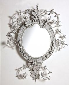 Beaded Neo-Classical Mirror from #stylebeatblog #JustinVanBreda