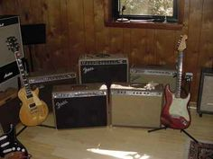 old beat up fender amps | JTM45 Build Plexi 1987 Hatcher Leslie 120 Speaker Silvertone 1483