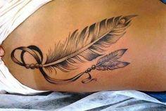 2 feathers for mum and dad.- 2 feathers for mum and dad. 2 feathers for mum and dad. Cage Tattoos, Mom Tattoos, Trendy Tattoos, Body Art Tattoos, Small Tattoos, Sleeve Tattoos, I Tattoo, Tattoos For Women, Tatoos