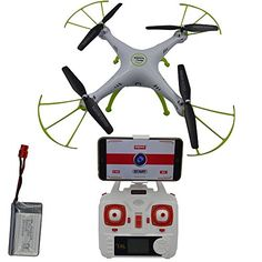 Blomiky Syma X5HW Altitude Hold Mode WIFI FPV Camera Drone RC Helicopter Quadcopter Extra 1 Battery X5HW White ** Find out more about the great product at the image link.