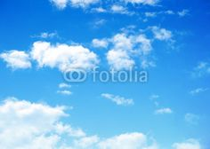Home :: Murals By Theme :: Night Sky Wall Murals :: #64745243 blue sky background with tiny clouds