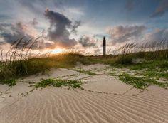 Beach on Oak Island NC
