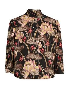 X Paula's Ibiza floral-print crepe blouse    Loewe   MATCHESFASHION.COM UK