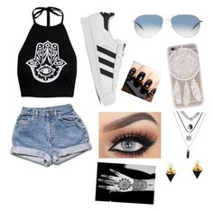 """""""Untitled #220"""" by dreamgurl-846 on Polyvore featuring adidas, Oliver Peoples and Eye Candy"""
