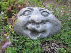 Garden Rock Face Concrete Garden Face Funny Face Rocks With Faces Garden Decor Rock Faces Garden Rock Stone Faces Fairy Garden Rock Concrete Art, Concrete Garden, Garden Shop, Dream Garden, Garden Crafts, Garden Projects, Garden Whimsy, Garden Ornaments, Yard Art