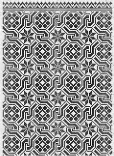 Ukraine, Skolivski vizerunky by antoinette Blackwork Embroidery, Cross Stitch Embroidery, Embroidery Patterns, Cross Stitch Borders, Cross Stitching, Cross Stitch Patterns, Knitting Charts, Knitting Patterns, Crochet Patterns