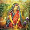 Krishna Damodara Painting by Lila Shravani