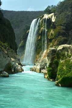 San Luis Potosí  #Mexico   Tamul Waterfall.