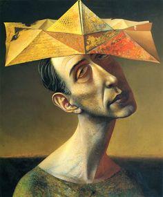 """Rudolf Hausner (1914-1995) was een Oostenrijkse schilder, tekenaar, graficus en beeldhouwer. Hausner is beschreven als een """"psychische realist"""" en surrealist. Mede oprichter van de Weense School of Fantastisch Realisme zijn werken waren vooral expressionistische invloeden beelden van voorsteden, stillevens en vrouwelijke modellen, waarvan de meeste hij vernietigd. (entarte kunst)."""