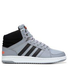 Adidas Men's Neo VS Hoops Mid Top Sneakers (Grey/Black/Red) - 10.0 M