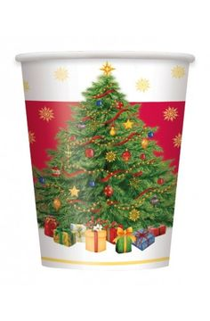 Pack of 8 Starry Christmas Tree Cups - Christmas & Winter Party Decoration & Tableware Ideas