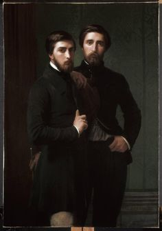 Hippolyte Flandrin — René-Charles Dassy and His Brother Jean-Baptiste-Claude-Amédé Dassy, 1850 : The Cleveland Museum of Art, Cleveland, Ohio, USA Jean Leon, Cleveland Museum Of Art, Cleveland Ohio, Art Of Man, Men Art, Jean Baptiste, Modern Art Paintings, Classic Paintings, Claude