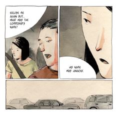 Aomame in the cab 1Q84 Illustration by Adrian Tomine