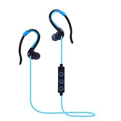 IPUIS Bluetooth Headphones 4.1 Bluetooth Headset Wireless Stereo Headphone Super Bass Noise Cancelling Sports Earphones In-ear Earbuds with Mic for iOS and Android Cellphone(Blue) - Brought to you by Avarsha.com