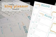 Weekly Blog Planner Printable Template