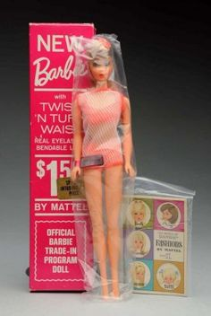 Lot: 1966 Ash Blonde Twist 'N' Turn Barbie Trade-In., Lot Number: 0758, Starting Bid: $125, Auctioneer: Dan Morphy Auctions, Auction: Toy, Doll & Figural Cast Iron Sale Day 2 , Date: March 5th, 2016 MST