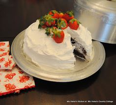 Sour Cream Chocolate Cake at Miz Helen's Country Cottage