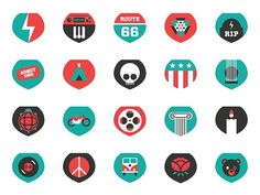 Discover more of the best Icons, Dead, Grateful, Icon, and Greatful inspiration on Designspiration Badge Design, Icon Design, Route 66, Designer Icon, Branding Design, Logo Design, Graphic Design, Shield Icon, Like Icon