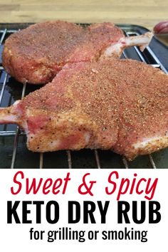 This weekend we were planning on smoking baby back ribs, but finding a Keto bbq sauce is a challenge. Does sugar free BBQ sauce even exist? We ended up making a homemade dry rub for ribs and it was so good we ended up using it to season up some Keto pork Dry Rub Recipes, Pork Chop Recipes, Keto Recipes, Healthy Recipes, Smoker Recipes, Rib Recipes, Grilling Recipes, Healthy Eats, Keto Bbq Sauce
