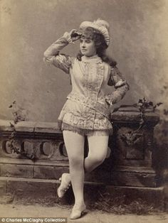 But in their time, these women were positively scandalous. Their form-fitting clothes showed off the shapes of their legs and thighs. Their corsets accentuated their bosoms. And everywhere they performed men threw themselves into frenzies of erotic desire.