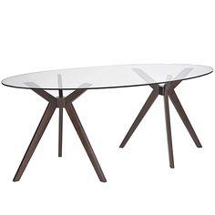 Modway Furniture Duet Modern Walnut Dining Table EEI-1617-WAL