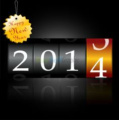 clip art happy new year 2014   Happy new year 2014 vector graphic royalty free download ...