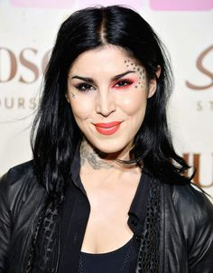 Kat Von D. I am not a fan of tattoos all over the body, but I like her personality. Plus, she is talented and brave enough to follow her dreams and principles.