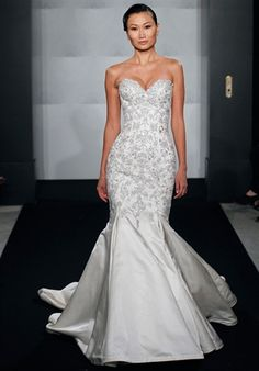 Mark Zunino for Kleinfeld, Silk Duchesse Satin, beading