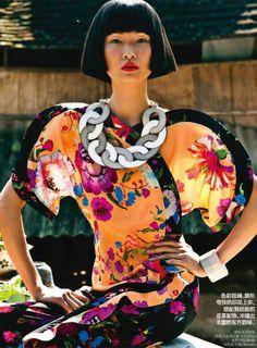 Wang Xiao by Li Qi for Vogue China April 2013