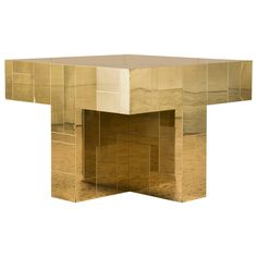 Paul Evans Brass Occasional Table