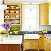 Kitchens (BHG, scroll through to see all) -- like the bright, playful colors and warmth of this one!