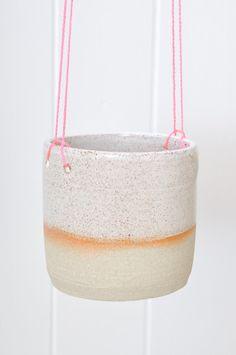 Hanging Planter - Pink from Australian maker Takeawei. #ceramics