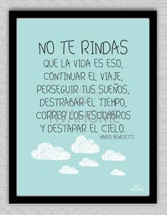 Cuadro No te rindas - comprar online Graduation Party Themes, Graduation Cards, Wise Quotes, Inspirational Quotes, Happy Store, Meaningful Life, Powerful Words, Sentences, Wise Words