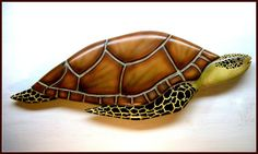 SEA TURTLE wood carving, beach marine art, marine life wood carving, ocean art, marine wildlife carving 32 inches.