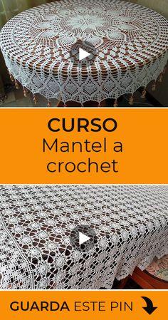 Crochet Books, Knit Crochet, Crochet Hats, Crochet Doily Patterns, Crochet Doilies, Mantel Redondo A Crochet, Crochet Videos, Knitting, Gamer Girls