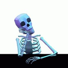 Skeleton drumming fingers and thinking - gif Skeleton Dance, Funny Skeleton, Animated Clipart, Animated Gif, Witch Room, Dark Pictures, Memes, Character Design Animation, Aretha Franklin