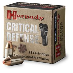 Hornady Critical Defense .40 S&W 165 Grain FTX Ammo, 20 rounds $22