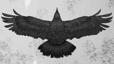 Raven Art Print by AlanLinnstaedt - X-Small Rabe Tattoo, Black Bird Tattoo, Crow Bird, Dark Wings, The Ancient Magus, Raven Art, Crows Ravens, Goth Art, Tattoo Studio