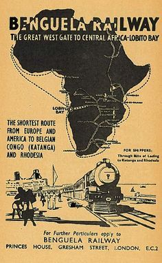 The Benguela Railway connects the Atlantic port of Lobito, Angola to the eastern town of Luau, Angola on the border with the present day Democratic Republic of Congo. At the border, it connects to a branch of the Katanga Railway, providing access to the Copperbelts of Congo and Zambia.