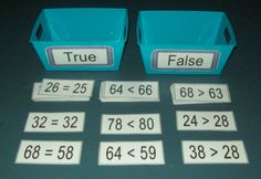 Greater or Less Than / Equal To True or False by Craftsforeveryone