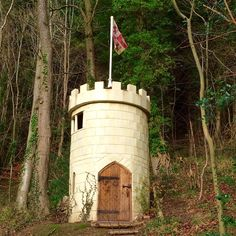 The castle of MOB entry for #shedoftheyear2016 A folly in the woods.