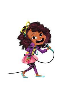 Various illustrations for the Sofia Martinez Series. Little Girl Cartoon, Little Girl Drawing, Black Girl Cartoon, Cartoon Girl Drawing, Drawing For Kids, Cartoon Drawings, Cute Illustration, Character Illustration, Character Drawing