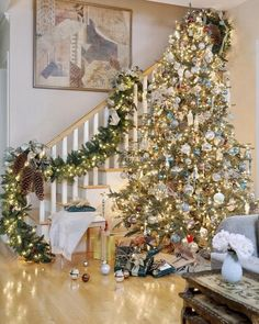 Natural Christmas Tree Decoration Ideas 2014