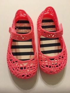 2397abe2850f Baby Prewalk Sandals Shoes Size 4 Mary Jane Jelly Coral