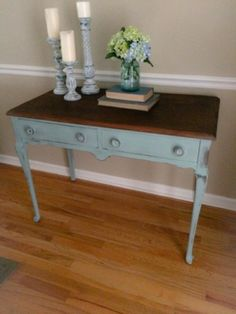 A Junkchick LIfe table featured by The Painted Drawer