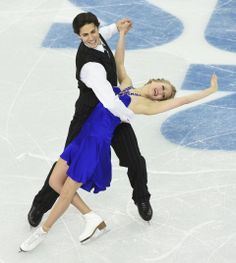 DAY 10:  Kaitlyn Weaver and Andrew Poje of Canada compete during Figure Skating Ice Dancing Short Program http://sports.yahoo.com/olympics
