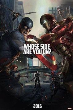 """Chris Evans shows uncertainty in choosing which side he would personally be on in the upcoming film """"Captain America: Civil War"""" while revealing some major movie plot conflict. Films Marvel, Marvel Dc Comics, Marvel Heroes, Marvel Avengers, Film Captain America, Hulk, Upcoming Superhero Movies, Superhero Poster, Fans"""