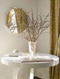 winter decor - decorate with branches