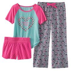PUG DOG Girls Pajama 3 Piece Set NEW Shirt Pants & Shorts NWT Dog Pjs XS 5 6 I Dream Of Pugs graphics on a matching shirt, pajama bottoms, and pajama shorts Pajama Bottoms, Pajama Shorts, Kids Outfits Girls, Girl Outfits, Girls Pajamas, Matching Shirts, Holiday Outfits, Pajama Set, Dresses With Sleeves