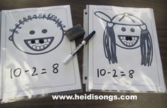 """to help layla with math - """"Loose Tooth"""" Subtraction Math Subtraction, Subtraction Activities, Math Activities, Numeracy, Language Activities, Math Games, Math Stations, Math Centers, Work Stations"""